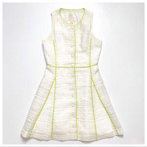 McGinn Sleeveless Fit & Flare Tweed Dress